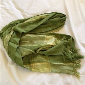 Accessories - Green and gold scarf